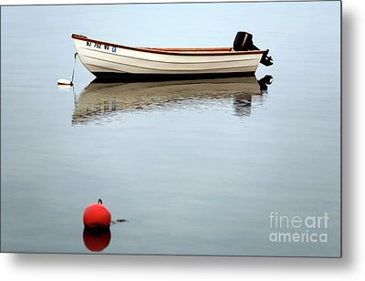 Boat In The Bay Metal Print by John Rizzuto
