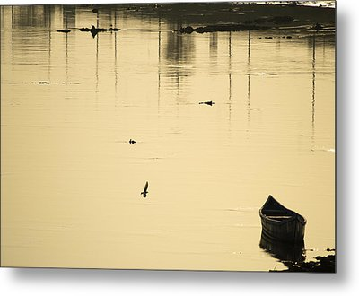 Boat In The Water Metal Print