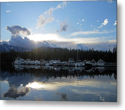 Boat Line Up Metal Print by Mike Podhorzer
