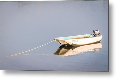 Boat Mooring Metal Print by Dawn Romine