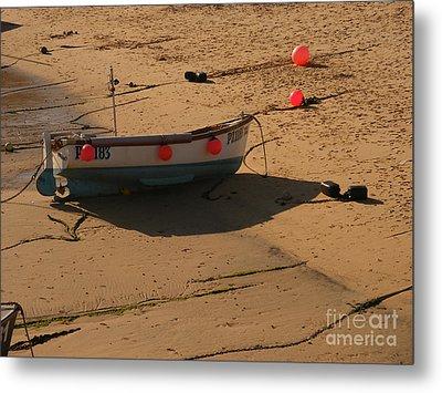 Boat On Beach 04 Metal Print by Pixel Chimp