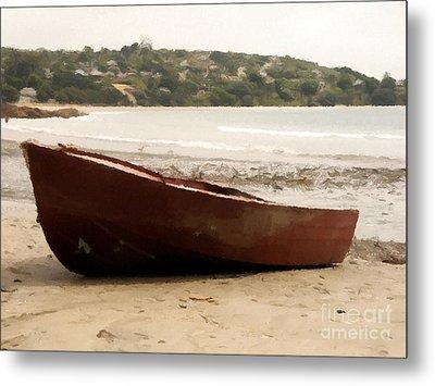 Boat On Shore 02 Metal Print by Pixel Chimp