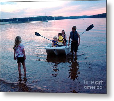 Boat Play Metal Print