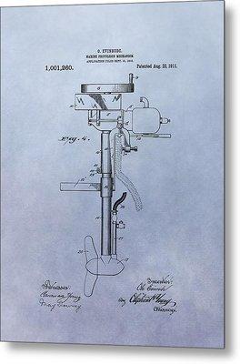 Boat Propeller Patent Drawing 1911 Metal Print