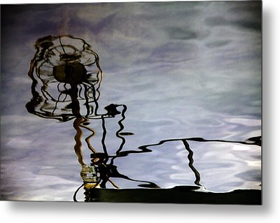 Boat Reflections Metal Print by Stelios Kleanthous