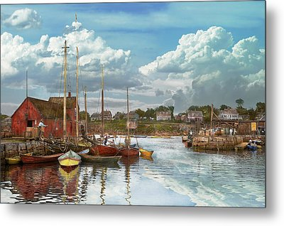 Boat - Rockport Mass - Motif Number One - 1906 Metal Print by Mike Savad