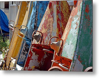 Boat Row Metal Print by Allen Carroll