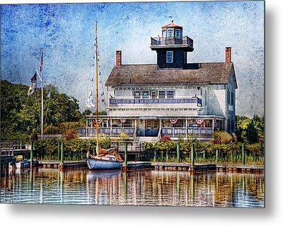 Boat - Tuckerton Seaport - Tuckerton Lighthouse Metal Print by Mike Savad