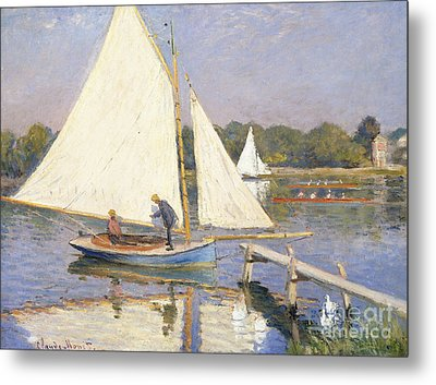 Boaters At Argenteuil Metal Print