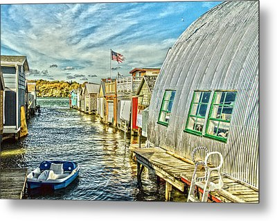 Boathouse Alley Metal Print