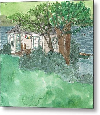 Boathouse At Ananda Metal Print