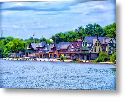 Boathouse Row Along The Schuylkill River Metal Print by Bill Cannon
