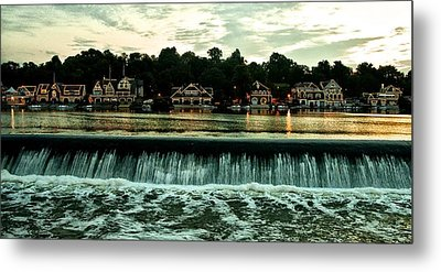 Boathouse Row And Fairmount Dam Metal Print by Bill Cannon