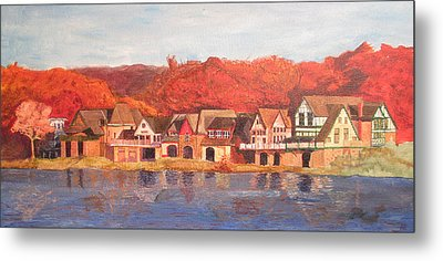 Boathouse Row Metal Print by Andrew Hench
