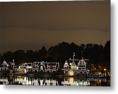 Metal Print featuring the photograph Boathouse Row by Christopher Woods