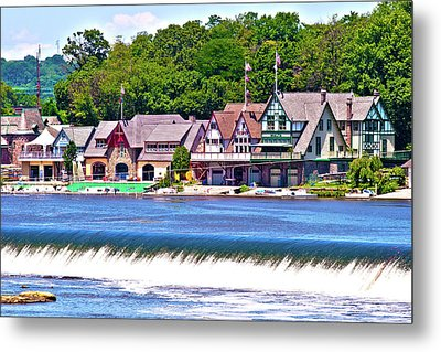 Boathouse Row - Hdr Metal Print by Lou Ford