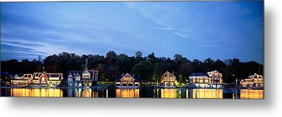 Boathouse Row Philadelphia Pennsylvania Metal Print by Panoramic Images