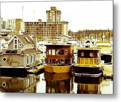 Boathouses Metal Print by Eti Reid