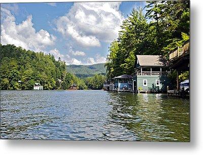 Boathouses On The Lake Metal Print