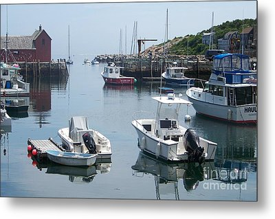 Metal Print featuring the photograph Boats On The Water by Eunice Miller