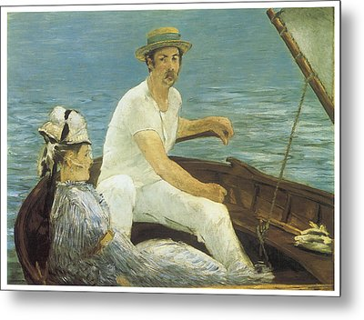 Boating Metal Print by Edouard Manet