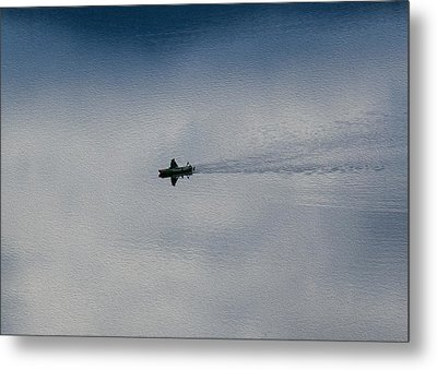 Boating Through The Clouds Metal Print by Omaste Witkowski
