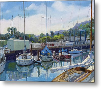 Boats And Yachts Metal Print by Dominique Amendola