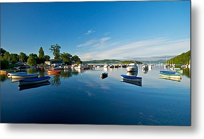 Metal Print featuring the photograph Boats At Balmaha by Stephen Taylor