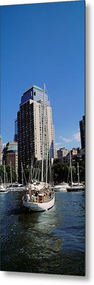 Boats At North Cove Yacht Harbor, New Metal Print by Panoramic Images