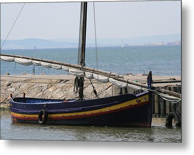 Boat At St Marie Metal Print