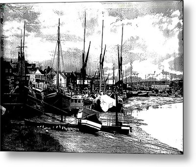 Metal Print featuring the digital art Boats At Sundown  by Fine Art By Andrew David