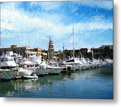 Boats Cabo San Lucas Metal Print by Ann Powell
