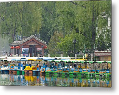 Boats In A Park, Beijing Metal Print by John Shaw