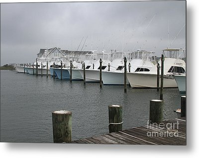 Boats In A Row 2 Metal Print
