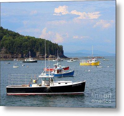 Boats In Bar Harbor Metal Print