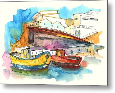 Boats In Ericeira In Portugal Metal Print by Miki De Goodaboom