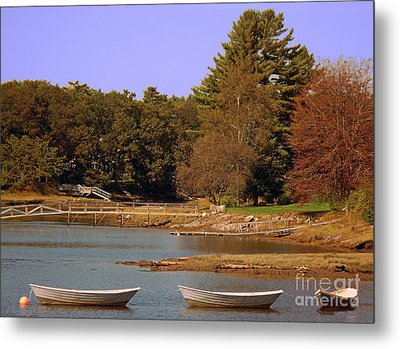 Metal Print featuring the photograph Boats In Kennebunkport by Gena Weiser