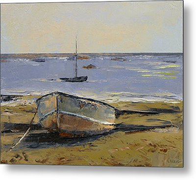Boats In Provincetown Harbor Metal Print by Michael Creese
