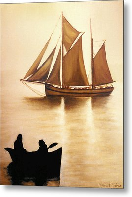 Metal Print featuring the painting Boats In Sun Light by Janice Dunbar