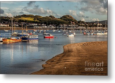 Boats In The Harbour Metal Print