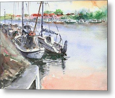Boats Inshore Metal Print