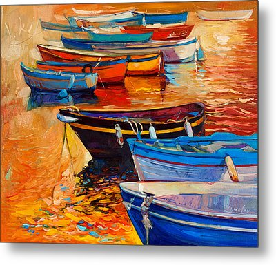 Boats Metal Print by Ivailo Nikolov
