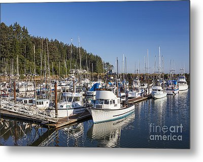 Boats Moored At Charleston Marina Metal Print
