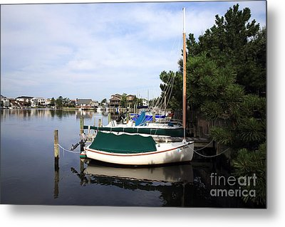 Boats Of Long Beach Island Color Metal Print by John Rizzuto