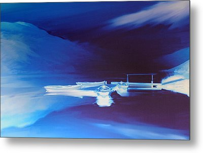 Boats On Bala Metal Print