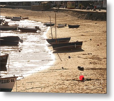 Boats On Beach 02 Metal Print by Pixel  Chimp