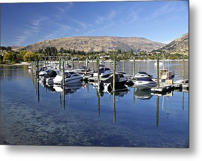 Boats On Lake Wanaka Metal Print by Venetia Featherstone-Witty