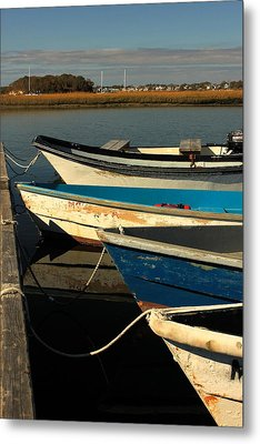 Metal Print featuring the photograph Boats Waiting by Amazing Jules