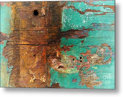 Boatyard Abstract 6 Metal Print