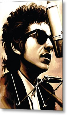Bob Dylan Artwork 3 Metal Print by Sheraz A